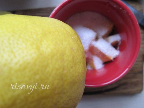 Чай с манго и лимонным соком