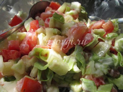 Овощной салат к отварной фунчозе