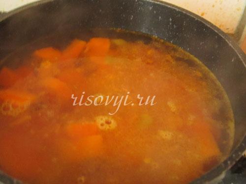 Суп-пюре из тыквы постный