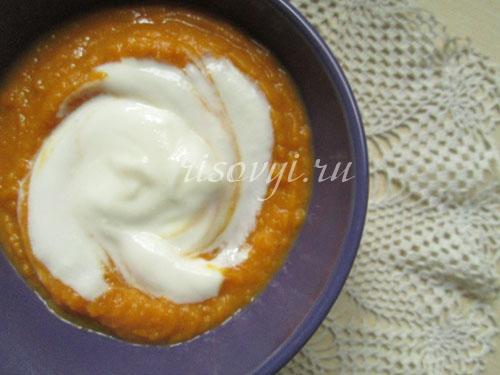 Суп-пюре из тыквы: фото