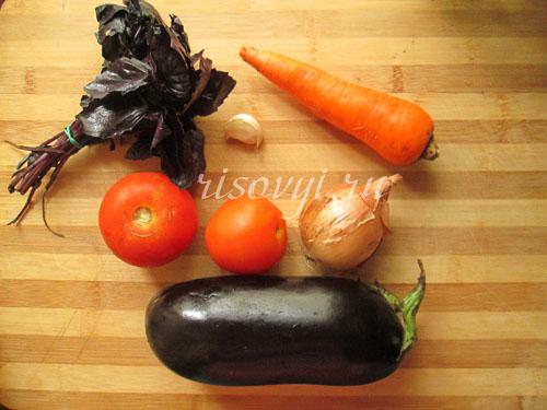 Овощи для супа с баклажанами