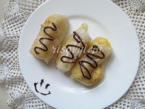 Сладкие блинчики из рисовой бумаги