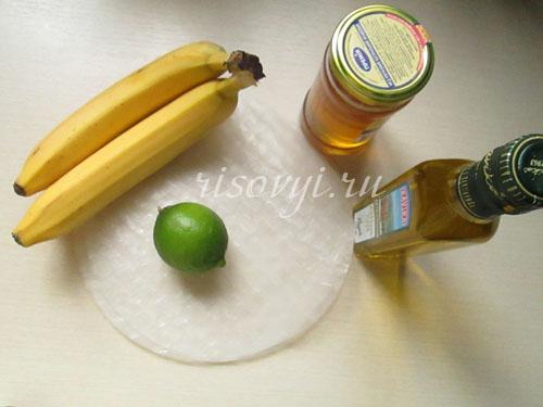 Ингредиенты для приготовления сладких спринг роллов