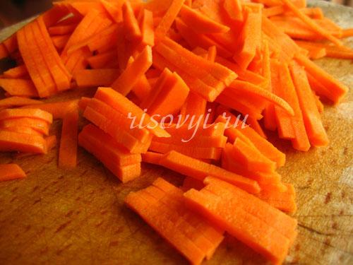 Как приготовить фаршированный перец: морковь
