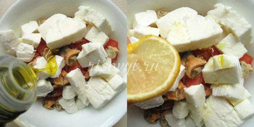 Заправка для салата с помидорами и моцареллой