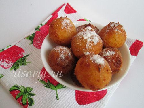 Творожные пончики: рецепт во фритюре