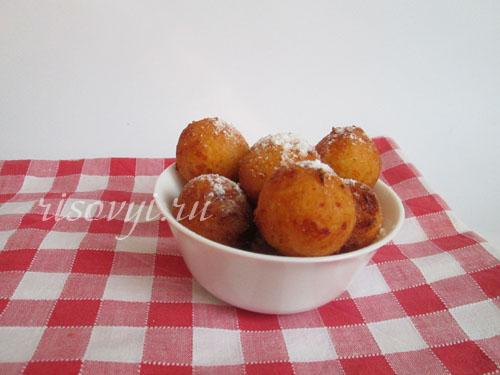 Творожные пончики: рецепт с фото