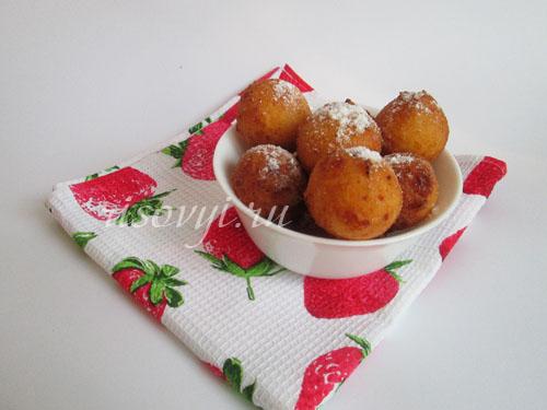 Творожные пончики: рецепт