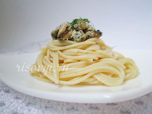 Морепродукты со спагетти