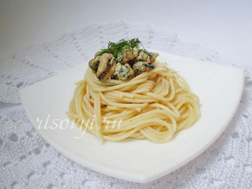 Спагетти с морепродуктами: рецепт с фото
