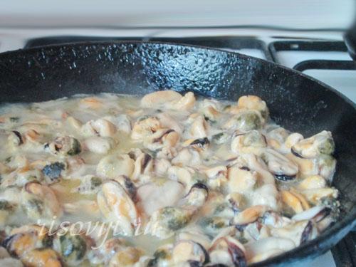 Морепродукты для спагетти