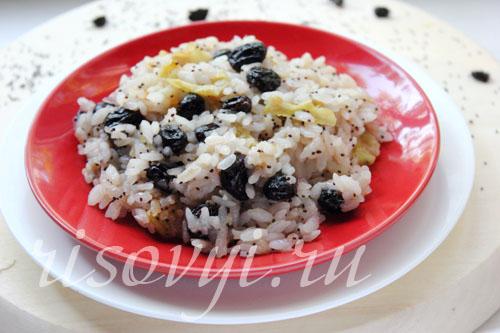 Как готовить сладкий рис с изюмом