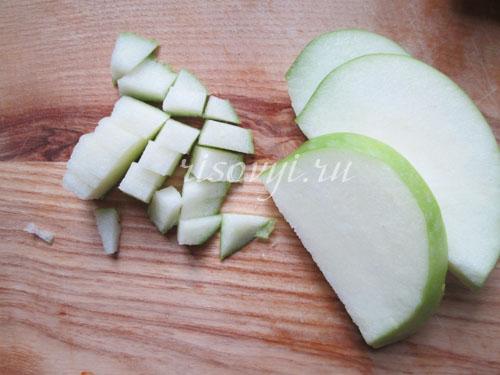Яблоки для начинки из риса в тыкве