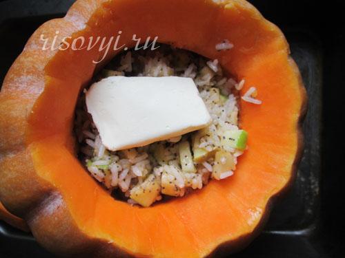 Рис с тыквой и изюмом