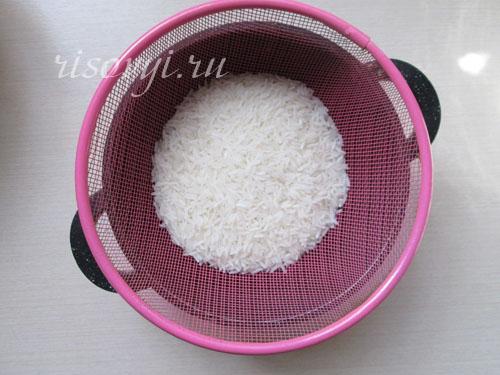 Рис для фарширования и запекания в тыкве промыть