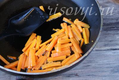 Тушеные овощи с фасолью стручковой