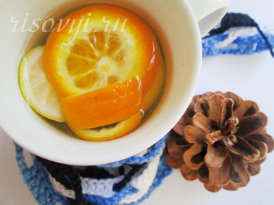 Чай с апельсином и лимоном
