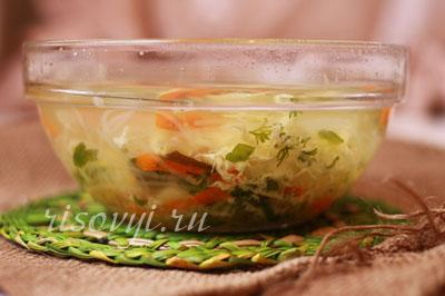 Суп с рисовой вермишелью