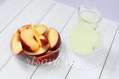 Напиток на основе молочной сыворотки с персиком