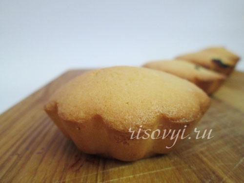 Бисквитные кексы с начинкой (без глютена)