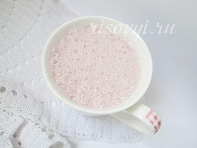 Малиновый молочный коктейль в блендере: рецепт
