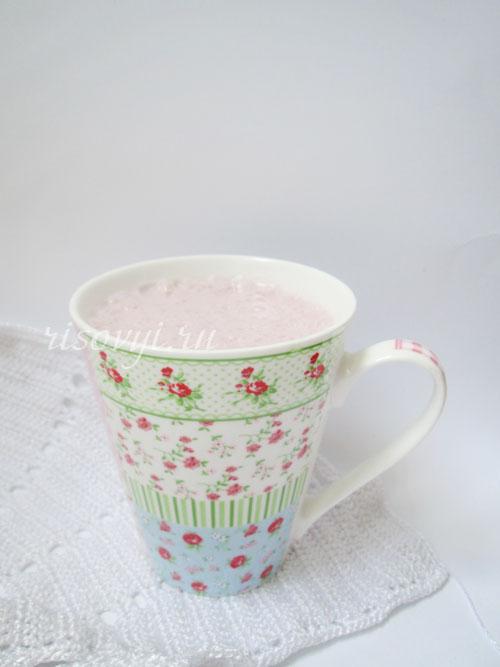 Рецепт молочного коктейля с малиной в блендере