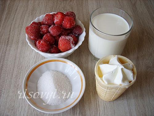 Рецепт молочного коктейля с мороженым в блендере