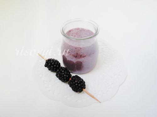 Рецепт приготовления ежевичного молочного коктейля в блендере