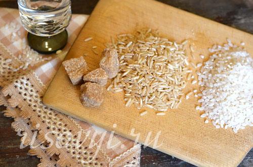 Ингредиенты для рисового десерта