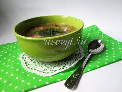 Суп грибной из шампиньонов: рецепт с фото