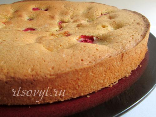Пирог с замороженной клубникой: рецепт с фото