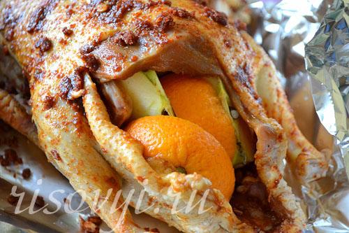 Пошаговый рецепт утки с яблоками