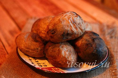 Печеная на углях картошка