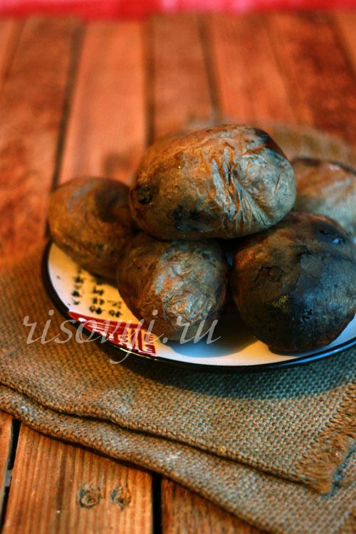 Картошка на углях: рецепт