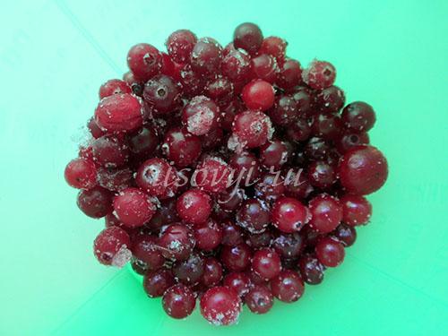 Кисель из замороженных ягод клюквы