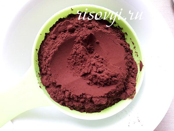 Какао темное для брауни