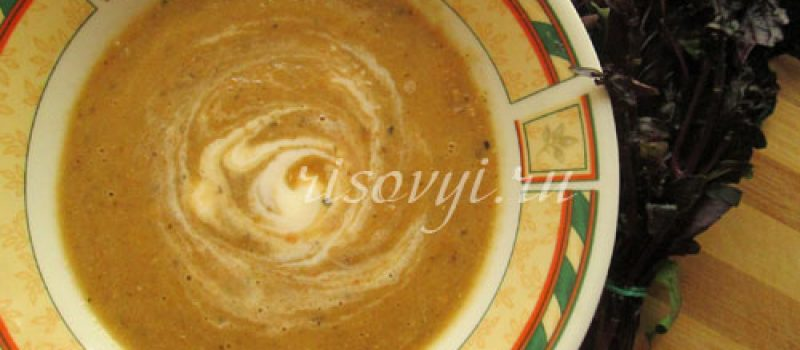 Суп-пюре с баклажанами