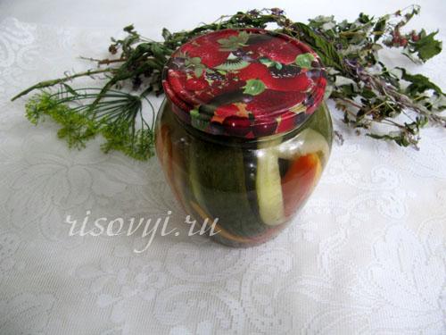 Рецепт овощного ассорти на зиму